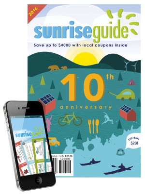 2016 SunriseGuide book cover with mobile image.