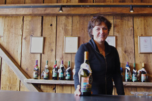 Bettina Doulton of Cellardoor Winery in Lincolnville. Offering wine tastings daily from 11 am – 6 pm. PHOTO: John Finch