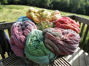 Seacolor Yarns are a true Maine art form. Their color depends on the moods of the sea, the sun, and the natural materials used for dyeing. Photo:  Courtesy of Nanne Kennedy