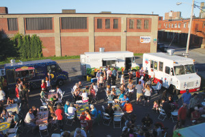"Flea Bites is arguably Portland's largest gathering of food trucks and is scheduled to happen on ""First Friday Art Walk"" nights in July and September. PHOTO: NATHANIEL BALDWIN, COURTESY OF THE PORTLAND FLEA FOR ALL."