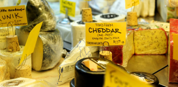 Many local markets offer a selection of fine Maine cheeses, including this one at the Rosemont Market & Bakery in Portland.