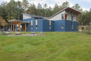 Friends School of Portland, completed in August, 2015 in Cumberland, is the first passive house school in Maine and the fourth in the country. FSP is net zero with a solar array that offsets all energy usage. (Photo Naomi Beal)