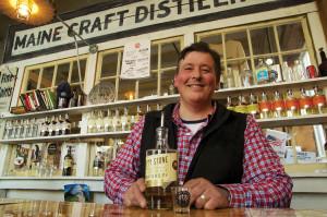 Luke Davidson of Maine Craft Distilling. Offering spirit tastings Tue- Sat afternoons. PHOTO: John Finch