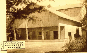 Deertrees Theatre in Harrison, is among the oldest theaters in the state. Photo:  Courtesy of Deertrees Theater