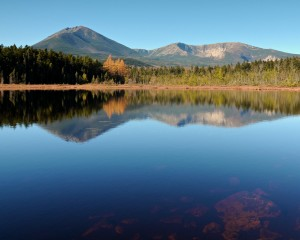 NRCM -Katahdin from Martin Ponds by Gerard Monteux
