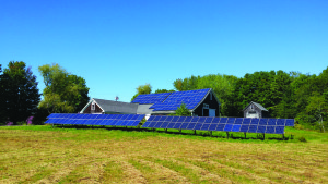 The 46 kilowatt solar array owned by the Edgecomb Community Solar Farm Association. Its nine members own a percentage of the energy generated by the solar farm and can apply the energy to their home electricity needs.