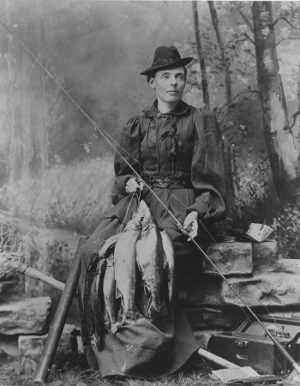 """The first licensed Maine Guide was a woman named Cornelia """"Fly Rod"""" Crosby."""