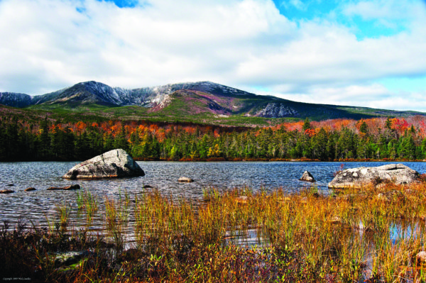 The wild landscape of Maine's highest peak, Katahdin, draws thousands of visitors each year.